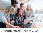 business people working... | Shutterstock . vector #786217864