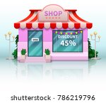 different shop and store icon.... | Shutterstock .eps vector #786219796