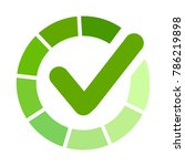 green approved sticker. check... | Shutterstock .eps vector #786219898