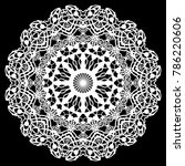lace round paper doily  lacy... | Shutterstock .eps vector #786220606