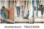 school bullying. afro american... | Shutterstock . vector #786223606