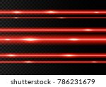 red laser beams with  flashes ... | Shutterstock .eps vector #786231679