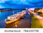 ship at the danube river... | Shutterstock . vector #786233758