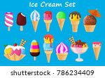 ice cream collection  vector... | Shutterstock .eps vector #786234409