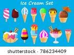 ice cream collection  vector...   Shutterstock .eps vector #786234409