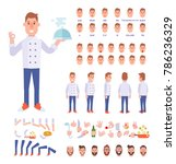 chef character creation set... | Shutterstock .eps vector #786236329