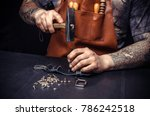 artisan of leather produces... | Shutterstock . vector #786242518