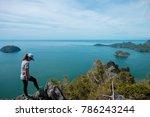adventure sport background... | Shutterstock . vector #786243244