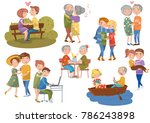 couples in love set  different... | Shutterstock .eps vector #786243898
