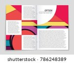 abstract vector layout... | Shutterstock .eps vector #786248389