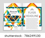 abstract vector layout... | Shutterstock .eps vector #786249130