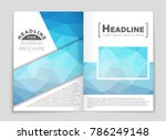 abstract vector layout... | Shutterstock .eps vector #786249148