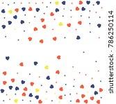 heart confetti background for... | Shutterstock .eps vector #786250114