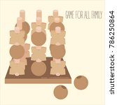 wooden tic tac toe strategy... | Shutterstock .eps vector #786250864
