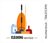 cleaning service. set house... | Shutterstock .eps vector #786251590