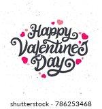 happy valentines day typography ... | Shutterstock .eps vector #786253468