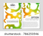 abstract vector layout... | Shutterstock .eps vector #786253546