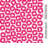 hand drawn social media sticker ... | Shutterstock .eps vector #786256036