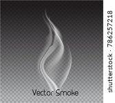 vector cigarette smoke on...   Shutterstock .eps vector #786257218