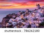 The Village Of Oia On Santorin...