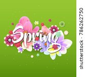 spring flower background design | Shutterstock .eps vector #786262750