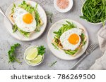 savory waffles with avocado ... | Shutterstock . vector #786269500
