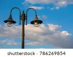 copy space of street light lamp ... | Shutterstock . vector #786269854