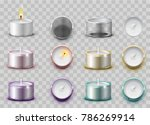 set modern wax aromatic candle... | Shutterstock .eps vector #786269914