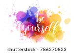 be yourself hand lettering... | Shutterstock .eps vector #786270823