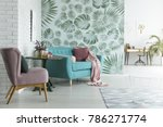bright flat with white brick... | Shutterstock . vector #786271774