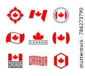 canada flag  logo design... | Shutterstock .eps vector #786273790