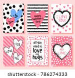cute valentine s day greeting... | Shutterstock .eps vector #786274333