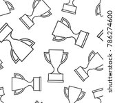 trophy cup seamless pattern...