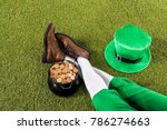 Cropped view of leprechaun with ...