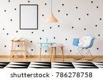 blue plastic rocking chair with ...   Shutterstock . vector #786278758