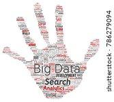 vector conceptual big data... | Shutterstock .eps vector #786279094