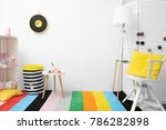 child's room with drawing... | Shutterstock . vector #786282898