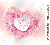 pink heart of flowers  for... | Shutterstock .eps vector #786286576