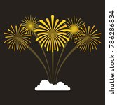fireworks exploding in the... | Shutterstock .eps vector #786286834