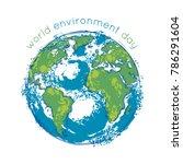world environment day. earth... | Shutterstock .eps vector #786291604