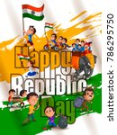 happy republic day of india... | Shutterstock .eps vector #786295750