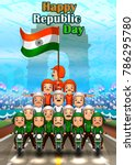 happy republic day of india... | Shutterstock .eps vector #786295780