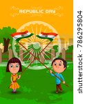 happy republic day of india... | Shutterstock .eps vector #786295804