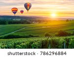 colorful hot air balloons... | Shutterstock . vector #786296884