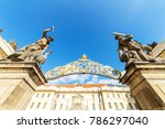 view of an entrance to the... | Shutterstock . vector #786297040