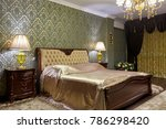 bedroom with a beautiful...   Shutterstock . vector #786298420