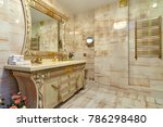 bathroom with a beautiful...   Shutterstock . vector #786298480