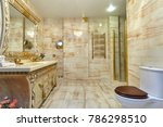 bathroom with a beautiful...   Shutterstock . vector #786298510