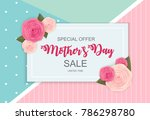 happy mother s day cute sale... | Shutterstock .eps vector #786298780
