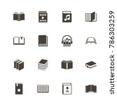 books icons. perfect black... | Shutterstock .eps vector #786303259
